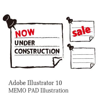 ロイヤリティーフリー素材:Memopad:Illustrator