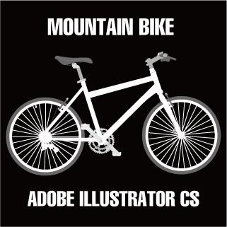 ロイヤリティーフリー素材:MOUNTAIN BIKE:Illustrator