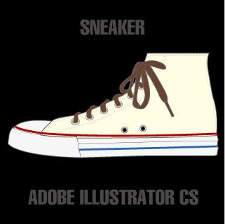 ロイヤリティーフリー素材:SNEAKER(HI):Illustrator