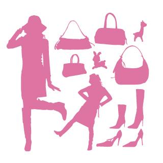 ロイヤリティーフリー素材:Fashion Item:Illustrator