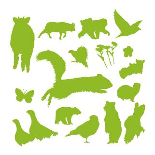 ロイヤリティーフリー素材:Animal:Illustrator