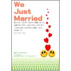 カムマサの作品発表:はがき作成とDM印刷:結婚報告-ニコニコ-