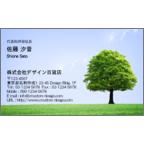 4birdの作品発表:名刺の作成と印刷:eco green