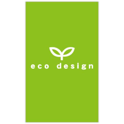 atーdesignのエコデザインの名刺デザイン作成と印刷
