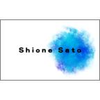 atーdesignの作品発表:名刺の作成と印刷:水彩風ペイント ブルー