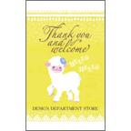 ワタナベの作品発表:名刺の作成と印刷:ヒツジちゃん