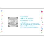 まるの作品発表:名刺の作成と印刷:水彩_ハート1