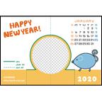 TOKUKOの作品発表:その他:年賀2020(フレーム1)