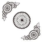 りえこの作品発表:Illustrator:花文様フレーム