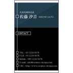 LightPROの作品発表:名刺の作成と印刷:リッチ_ブルー